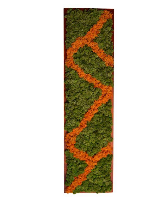 Panou decorativ din licheni naturali Zig-Zag